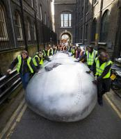 Division Bell head arrives at V&A for The Pink Floyd Exhibition: Their Mortal Remains