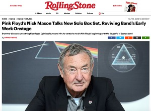 Nick Mason on Rolling Stone website