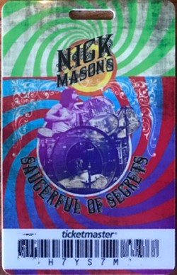 Nick Mason's Saucerful Of Secrets - Birmingham concert ticket