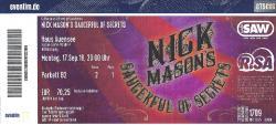 Nick Mason's Saucerful Of Secrets - 2018 Leipzig ticket