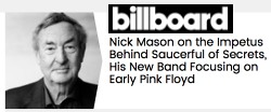 Nick Mason in Billboard, August 2018
