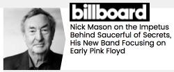 Nick Mason in Billboard, August 2018