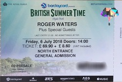 Roger Waters - London Hyde Park ticket 2018