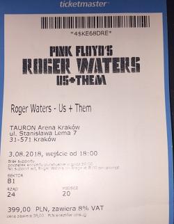 Roger Waters - Krakow ticket
