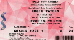 Roger Waters Lyon 2018 ticket