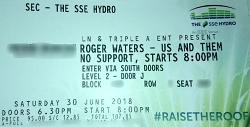 Roger Waters - Glasgow ticket 2018