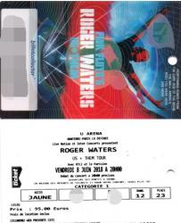 Roger Waters - U Arena ticket, 8th June 2018