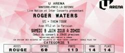 Roger Waters ticket - Paris, France, June 2018