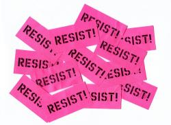 Resist confetti from Roger Waters in Cologne, June 2018