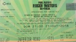 Roger Waters - Brazil 2018 ticket