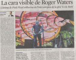 Roger Waters in Barcelona, Spain 2018 - newspaper article
