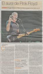 Roger Waters in Barcelona, Spain 2018 - newspaper article