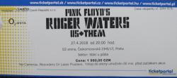 Roger Waters - Prague 2018 ticket