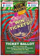 Nick Mason's Saucerful Of Secrets - ticket ballot