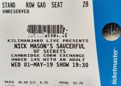 Nick Mason's Saucerful Of Secrets - Cambridge Corn Exchange ticket 2019