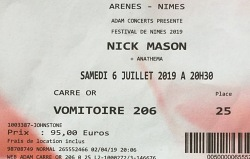 Nick Mason's Saucerful Of Secrets - Nimes, France, July 2019 ticket