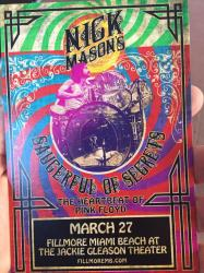 Nick Mason's Saucerful Of Secrets - The Fillmore Miami poster 2019