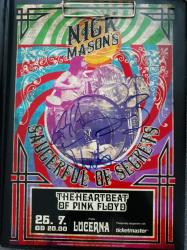 Nick Mason's Saucerful Of Secrets - Lucerna, July 2019 - signed poster