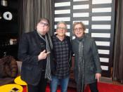 Martin Popoff with Rick Neilsen and Tom Petersson of Cheap Trick