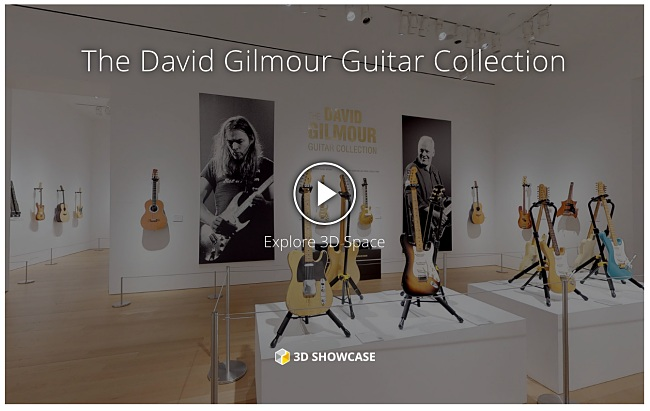 Virtual look at The David Gilmour Guitar Collection