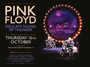 Pink Floyd's Delicate Sound Of Thunder - in cinemas one night only, October 15th 2020