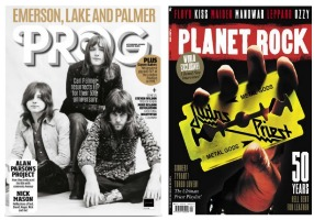 Prog issue 108, and Planet Rock issue 20, magazine covers