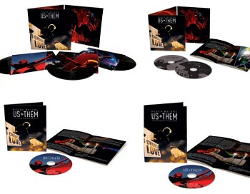 Roger Waters Us + Them physical releases (Blu-ray, 3LP, 2CD, DVD)