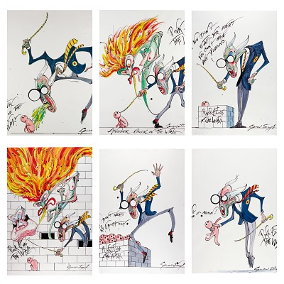 Gerald Scarfe - Pink Floyd The Wall original drawings in upcoming Sotheby's auction