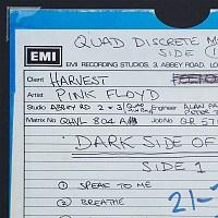 Detail of DSOTM Quad master tape box