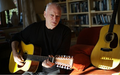 David Gilmour with Martin guitars - photo by Polly Samson