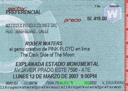 lima Roger Waters ticket