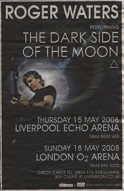 liverpool and london roger waters poster 2008