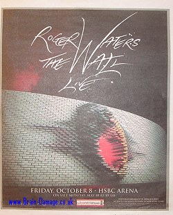 Roger Waters - 2010 Wall Tour advertisment