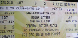 Roger Waters - 2010 Vancouver ticket