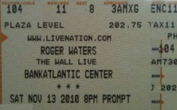 Roger Waters ticket 2010