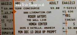 Roger Waters The Wall Live 2010 ticket