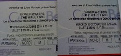 Roger Waters Wall Live concert ticket
