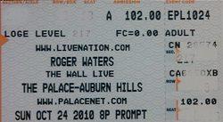 Roger Waters ticket