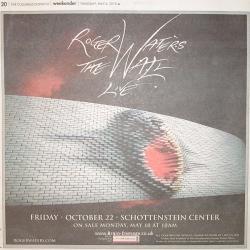 Roger Waters 2010 concert advertisement
