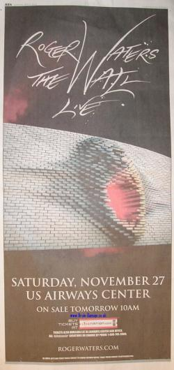 Roger Waters 2010 tour advertisement