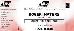 Roger Waters - Paris 2011 ticket
