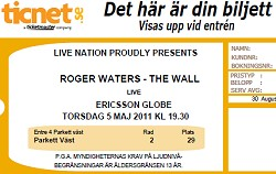 Roger Waters Stockholm ticket