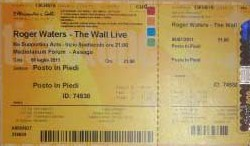 Roger Waters - The Wall Live Europe 2011 ticket