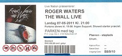 Roger Waters - Parken 2011 ticket