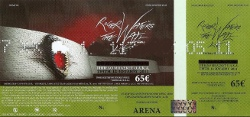 Roger Waters ticket - Athens 2011