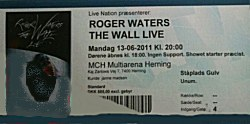 Roger Waters Herning 2011 ticket