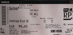Roger Waters - Dusseldorf 2011 ticket