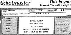 Roger Waters Dublin concert ticket