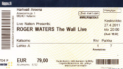 Roger Waters - Hensinki concert ticket