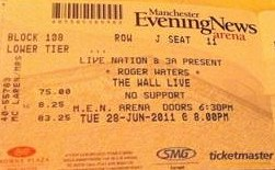 Roger Waters Wall Live ticket - Manchester